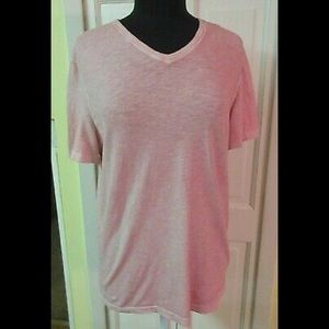 Michael Kors tee shirt black label pinkish red Med